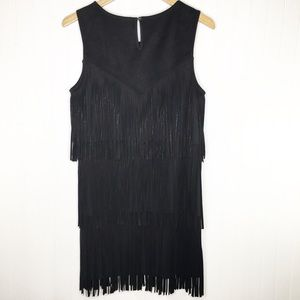 Skies Are Blue Faux Suede Fringe Dress Size Large